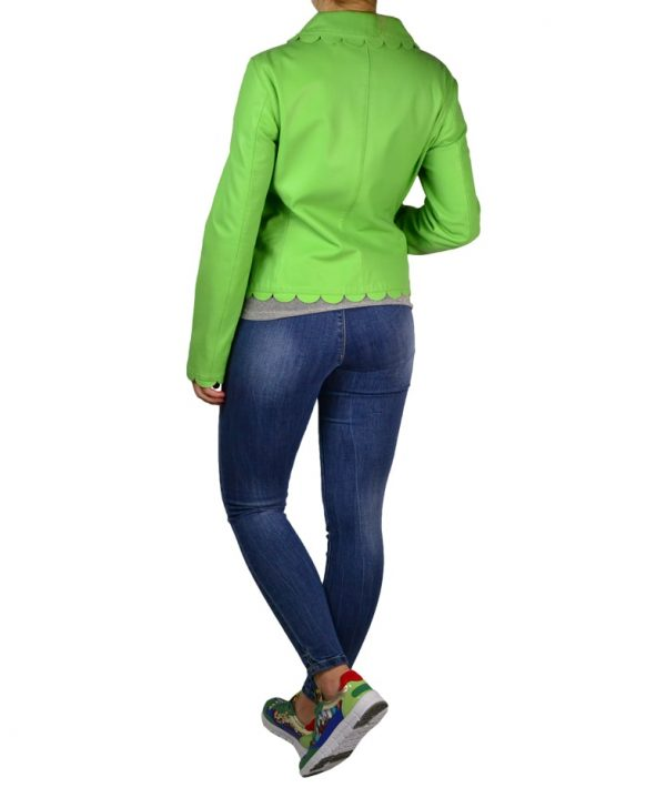 Куртка Moschino зеленая кожаная