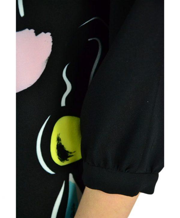 Платье Boutique Moschino черное прямого кроя с принтом