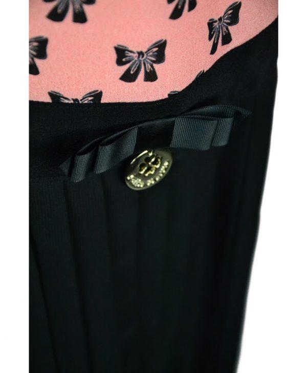 Платье Petite Couture черно-розовое с принтом