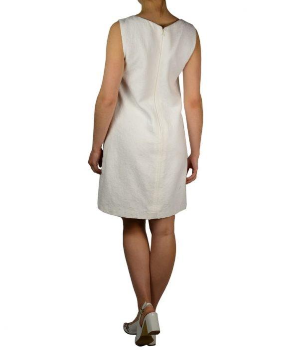 Платье VDP белое с вышивкой и камнями