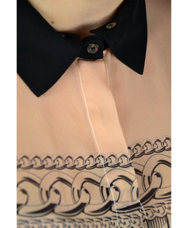 Рубашка Marani G. бежевая с принтом