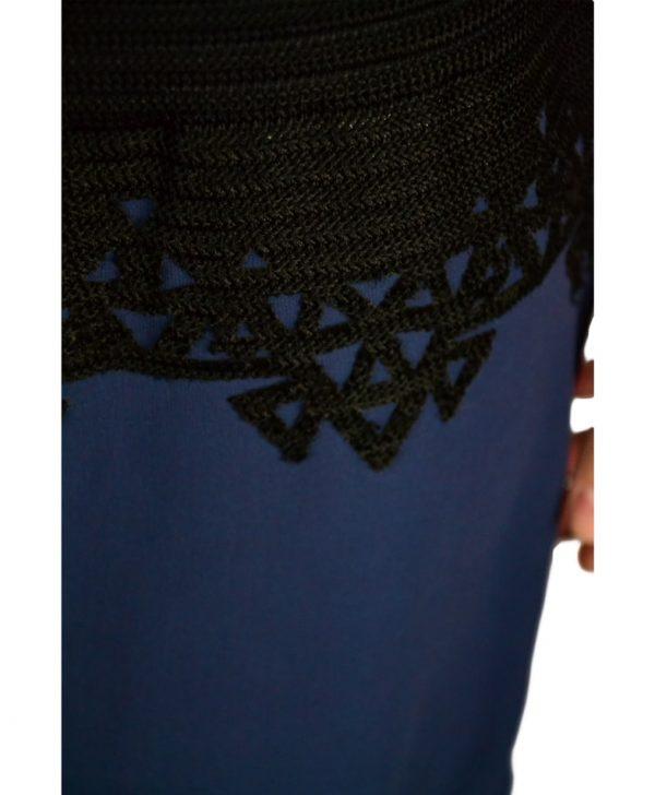 Сарафан Marani G. синий с черным вязаным верхом