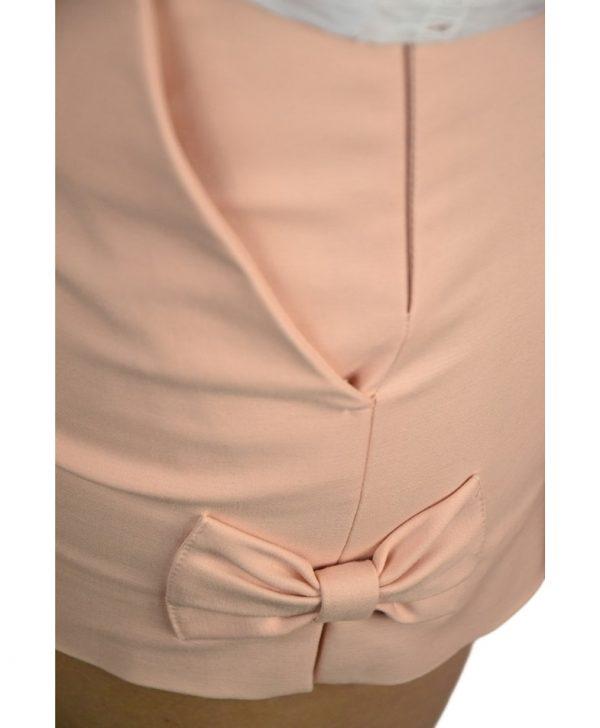 Шорты Red Valentino розовые с бантиками