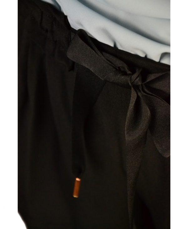 Шорты VDP черные с бантом-завязкой