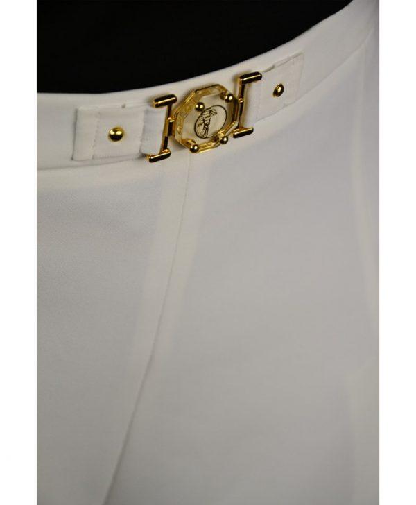 Шорты Versace белые классические широкого кроя