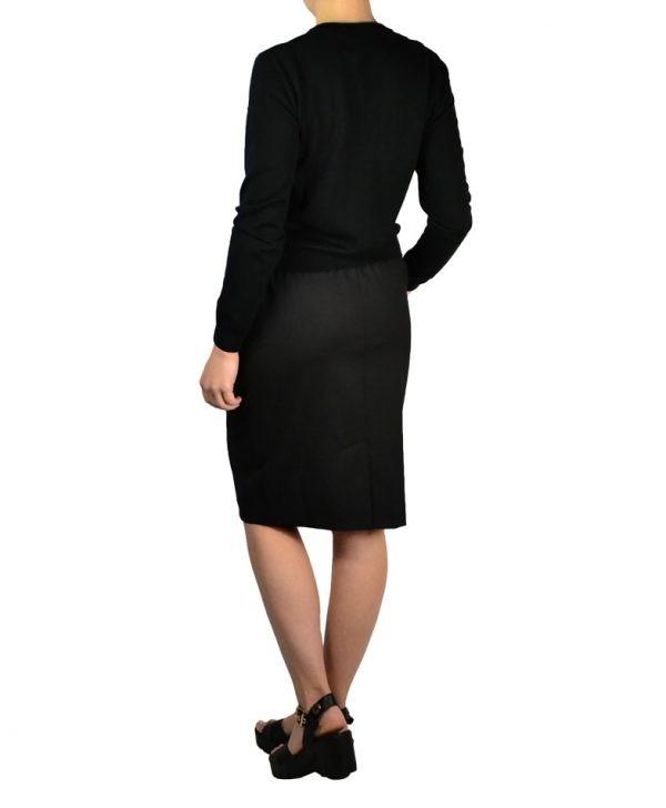 Юбка Boutique Moschino черная на резинке с завязкой