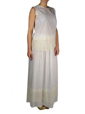 Юбка Petite Couture белая с вышивкой