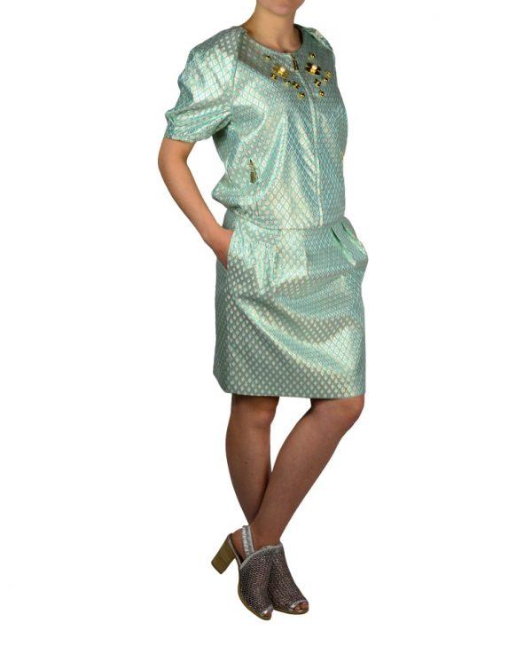 Юбка Petite Couture голубая с принтом