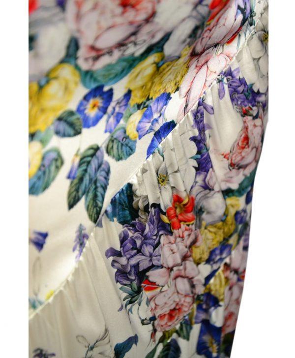 Юбка Roberto Cavalli бело-синяя с цветочным принтом