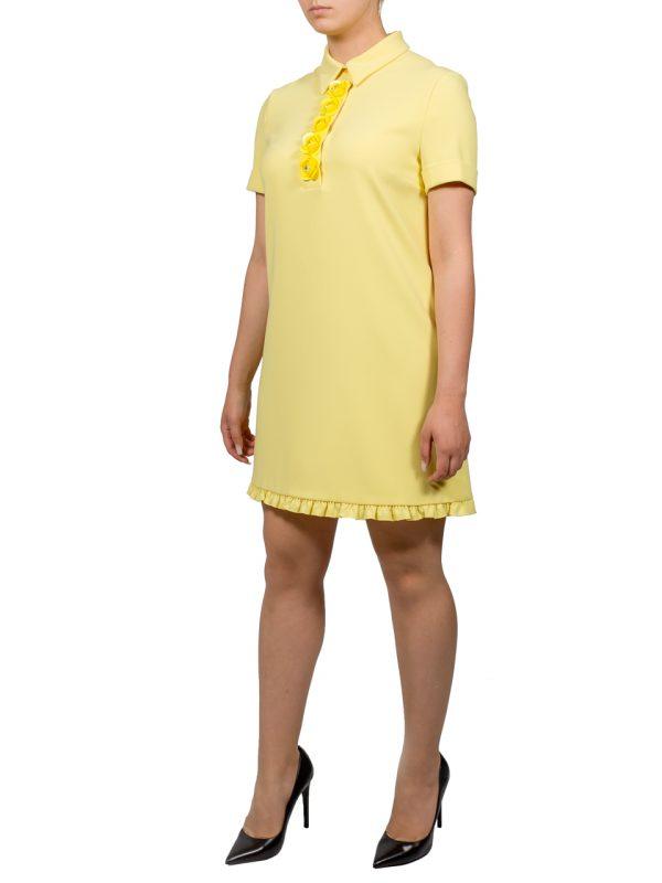 Платье Boutique Moschino желтое с рюшами