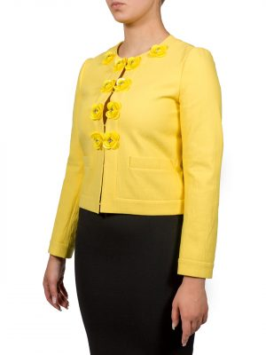 Пиджак Boutique Moschino желтый с декоративными элементами