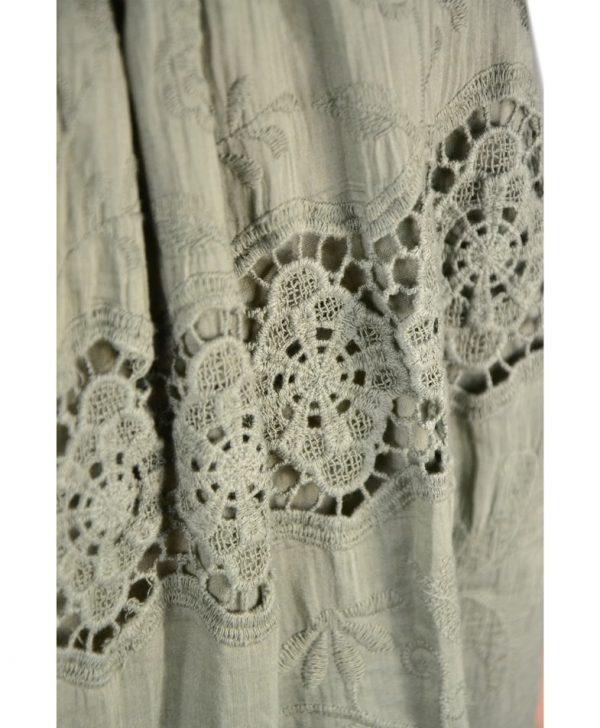 Кофта Paolo Casalini цвета хаки с вышивкой