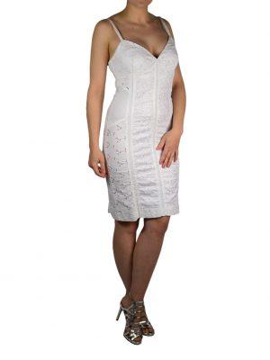Платье Angelo Marani белое с вышивкой