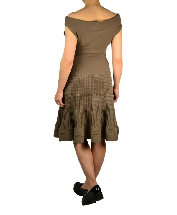 Платье Class Roberto Cavalli коричневое вязаное