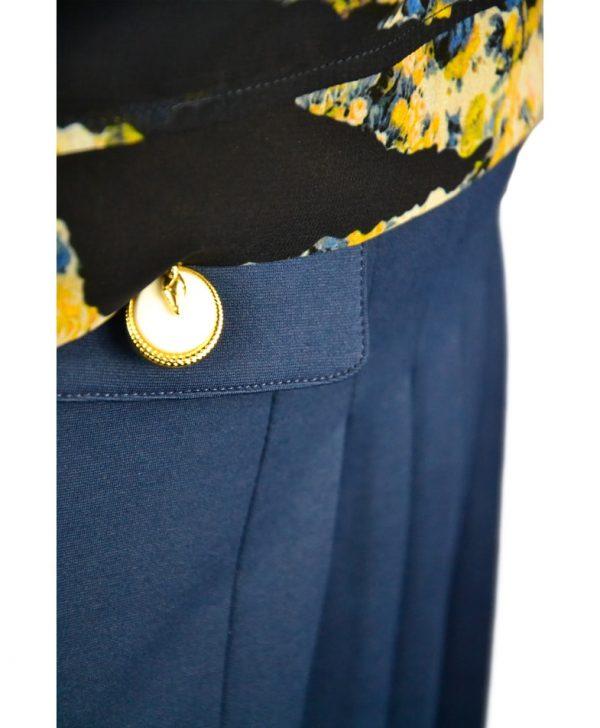 Платье Class Roberto Cavalli синяя юбка комбинированная с черной блузой с принтом