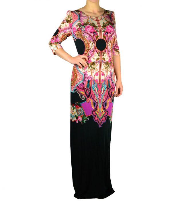 Платье Class Roberto Cavalli черное с принтом