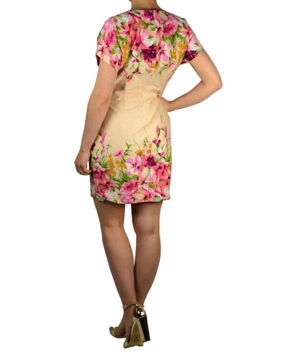 Платье Paola Morena бежевое с цветочным принтом