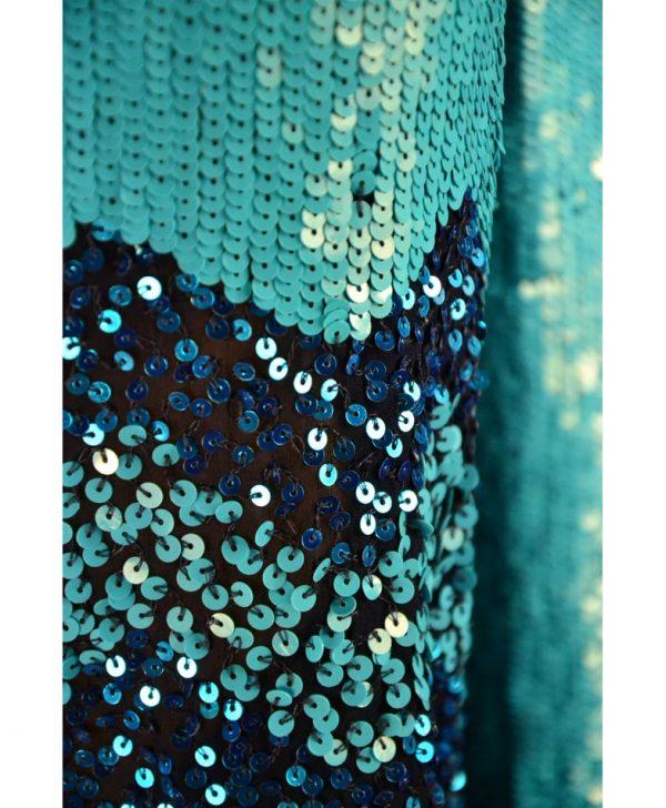 Кофта Twin-Set темно-синяя с пайетками и завязками на спинке
