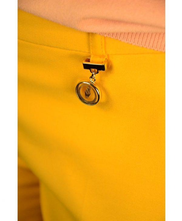 Брюки Class Roberto Cavalli желтые классические