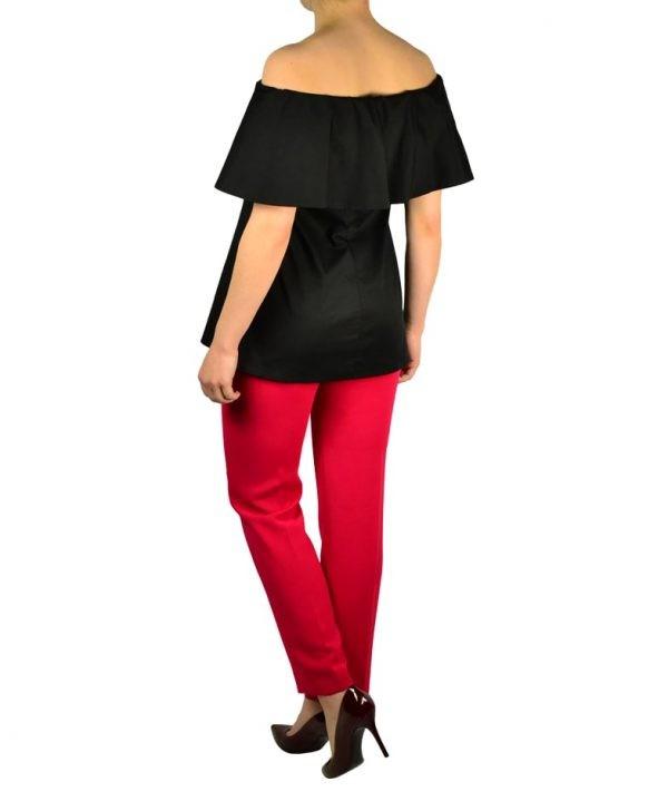 Брюки Versace красные классические с завязкой