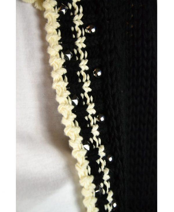 Кардиган Twin-Set черный вязаный на пуговицах