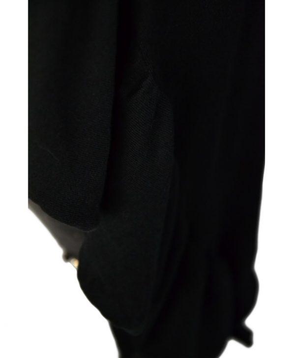 Кардиган Twin-Set черный трикотажный с воланами
