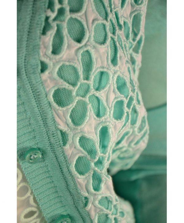 Кофта Class Roberto Cavalli ментолового цвета с вышивкой