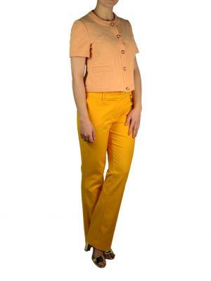 Пиджак Moschino персикового цвета на пуговицах
