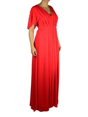 Платье Babylon коралловое длинное