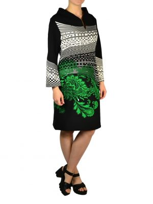Платье Didier Parakian черно-белое с принтом