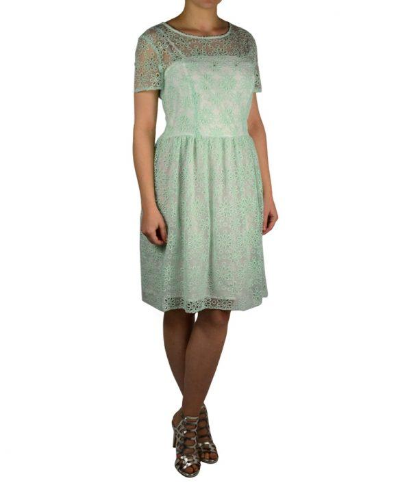 Платье Petite Couture мятного цвета с вышивкой и камнями