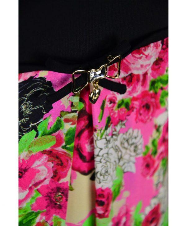 Платье VDP широкого кроя с цветочным принтом