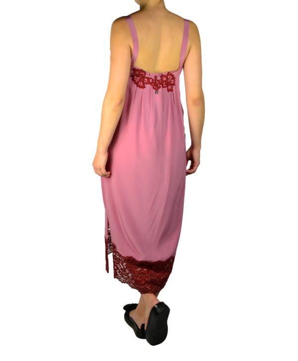 Сарафан Twin-Set розовый с гипюром