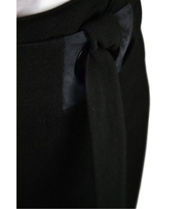 Юбка D. Exterior черная на завязке с люверсом