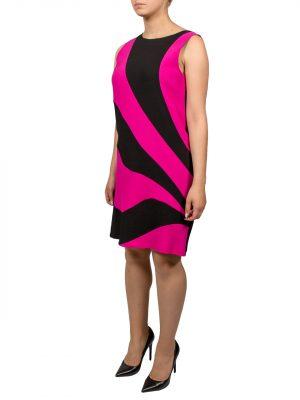 Платье Moschino черно-розовое