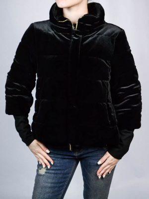 Куртка Roberta Biagi черная бархатная стеганая