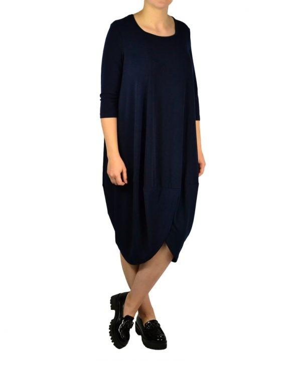Платье Sandro Ferrone темно-синее свободная модель