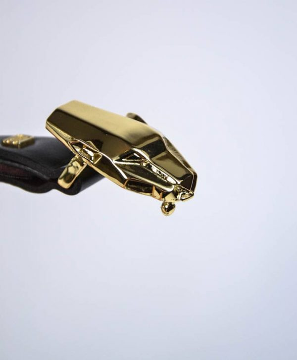 Пояс Class Cavalli черный с золотой пряжкой