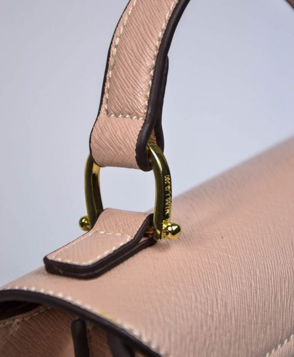 Сумка Twin-Set розовая с золотой застежкой