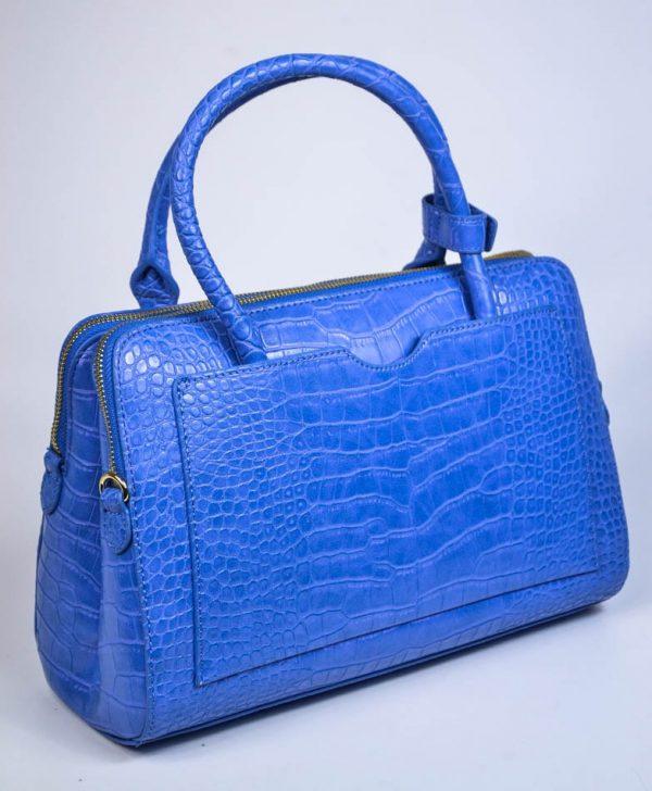 Сумка Twin-Set синяя имитация крокодил