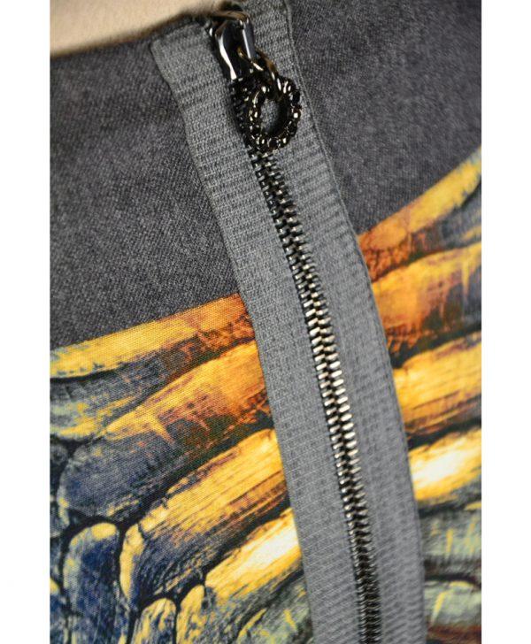 Юбка Angelo Marani с серым поясом и принтом