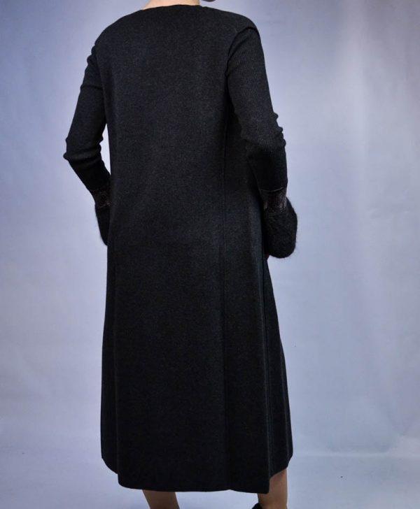 Жилет D.Exterior темно-серый шерстяной с пуговицами