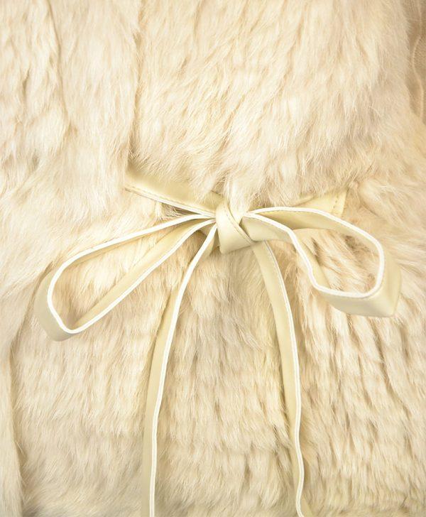 Кардиган Twin-Set цвет кремовый меховой