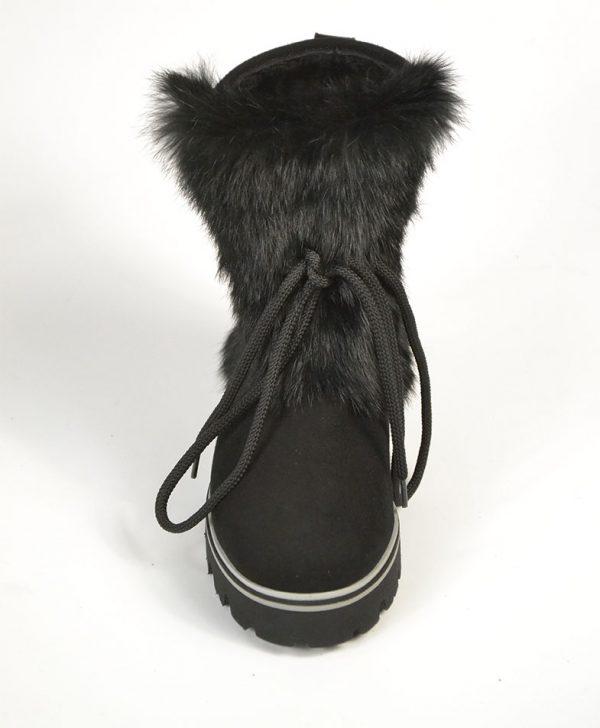 Угги Baldinini черные замшевые со шнурком и мехом