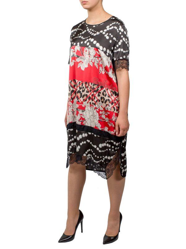 Платье VDP черное с принтом