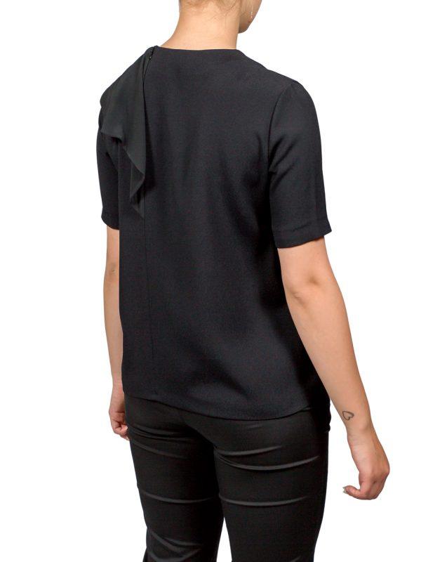 Блуза VDP черная с белой вставкой