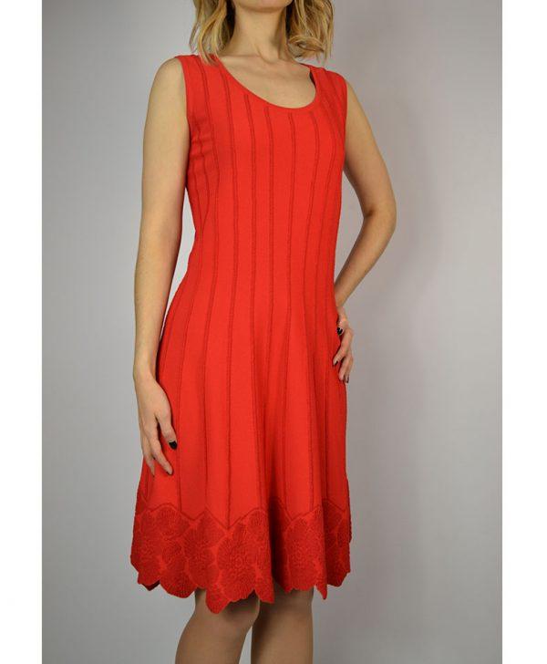 Платье D. Exterior красное вертикальные полосы низ цветы