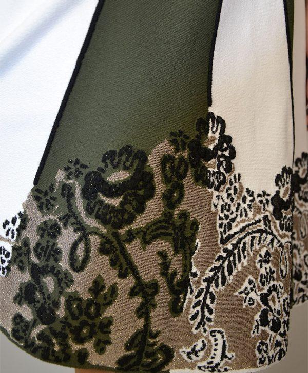 Юбка D. Exterior белая с зеленым низ цветы люрекс