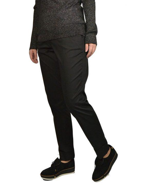 Брюки Peserico черные со стрелкой косые карманы