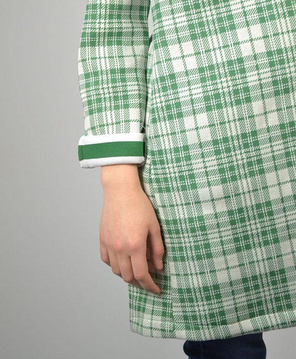 Кардиган Paolo Casalini зеленый в белую клетку